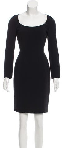 pradaPrada Long Sleeve Knee-Length Dress