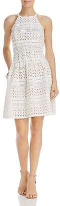 Eliza J Perforated Scuba Dress