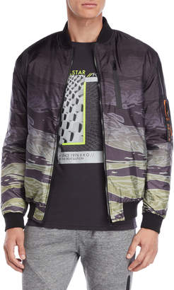 Soul Star Camouflage Ombre Bomber Jacket
