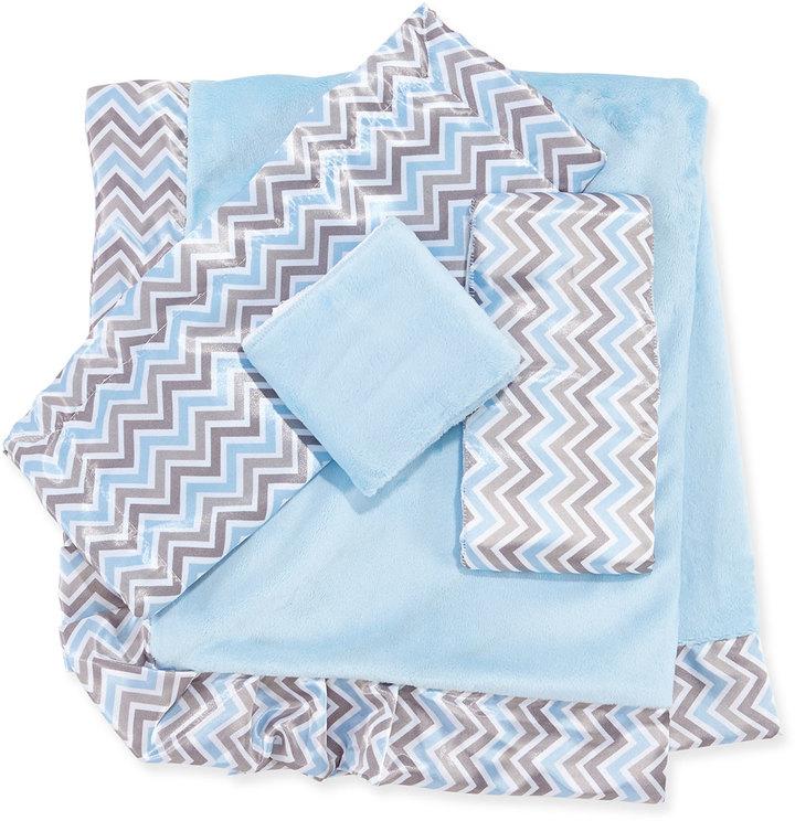 Swankie Blankie Chevron Burp Cloth Set, Blue