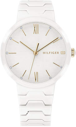 Tommy Hilfiger Women White Ceramic Bracelet Watch 36mm