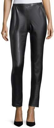 Caroline Rose Bi-Stretch Faux-Leather Pants, Plus Size