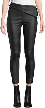 RtA Rumer Leather Fold-Over Leggings