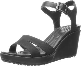 Crocs Women's Leigh II Ankle Strap W Wedge Sandal