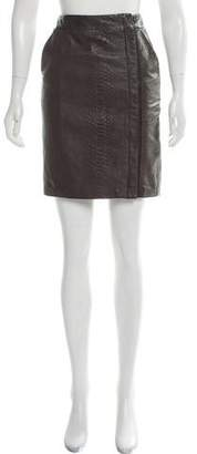 Vince Embossed Leather Pencil Skirt