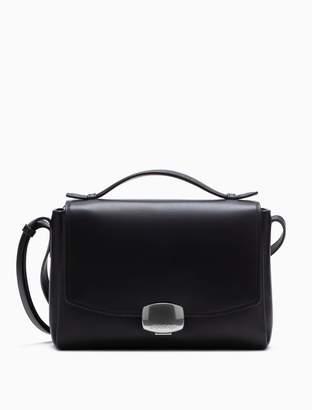Calvin Klein folded smooth leather crossbody bag