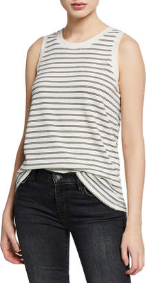 Current/Elliott The Easy Striped Crewneck Muscle Tank