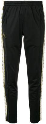 Kappa side-stripe track trousers