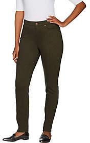 Martha Stewart Petite Peached Twill 5-PocketAnkle Pants