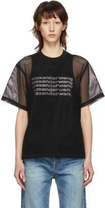 Alexander Wang Black Printed Mesh T-Shirt