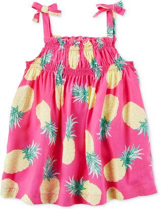 Carter's Pineapple-Print Smocked Tank, Little Girls (2-6X) & Big Girls (7-16) $22 thestylecure.com