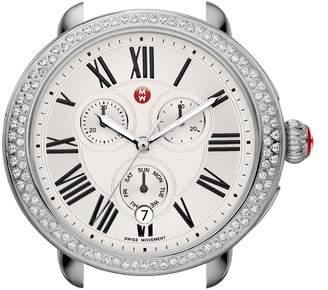 Michele Serein Diamond Gold Plated Watch Case, 40mm x 38mm