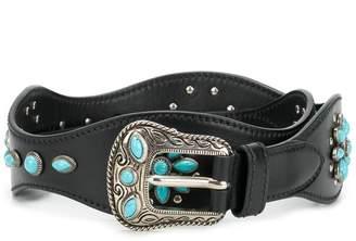 Prada embellished buckle belt