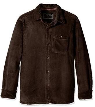 True Grit Men's Pebble Pile Long Sleeve One Pocket Big Shirt