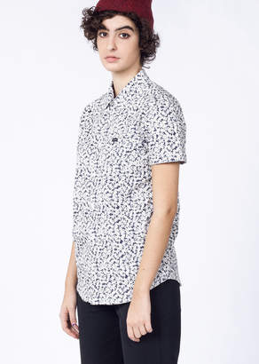 RVCA Mirage Brong S/S Button Up | Wildfang - Brong Mirage Button Up - WHITE / NAVY - XLARGE