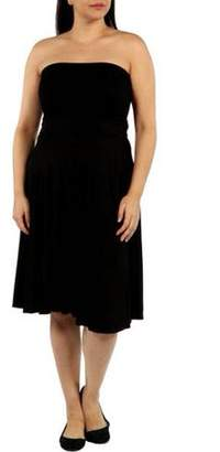 24/7 Comfort Apparel Women's Plus Irresistible Black Party Dress