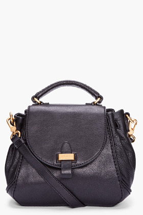 MARC BY MARC JACOBS Small Black Leather Irina Shoulder Bag