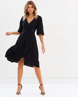 Perla Wrap Midi Dress