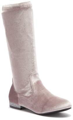 OLIVIA MILLER OMG Velvet Knee-High Boot (Little Kid & Big Kid)