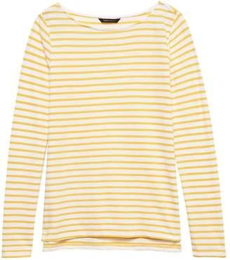 Banana Republic Petite Slub Cotton-Modal Boat-Neck T-Shirt