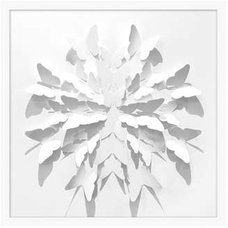 Pottery Barn Teen Folded Butterfly Framed Art, white, 25&quotx25&quot
