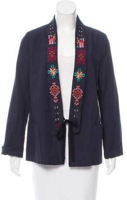 Giada Forte Embroidered Linen Jacket w/ Tags