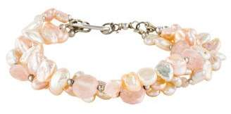Elizabeth Showers Pearl & Multistrand Bracelet