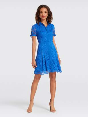 Draper James Tie Lace Shirtdress