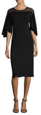 Donna Karan Flutter Sleeve Dress