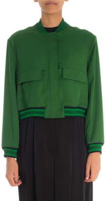 Givenchy Cropped Matte Bomber Jacket