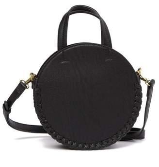 Street Level Braided Trim Circular Crossbody Bag