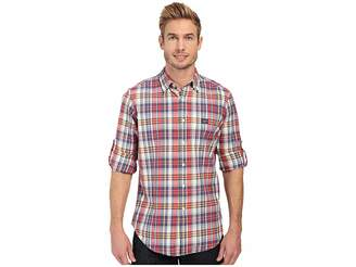 U.S. Polo Assn. Long Sleeve Classic Fir Madras Plaid Sport Shirt Men's Long Sleeve Button Up