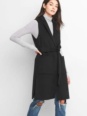 Gap Wool tie-belt vest