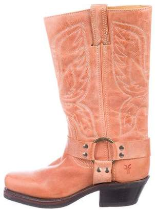 Frye Leather Square-Toe Boots