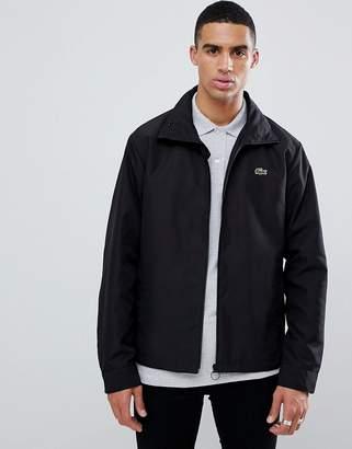 Lacoste zip through jacket in black