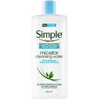 Simple Water Boost Facial Cleanser Micellar Water 400 mL