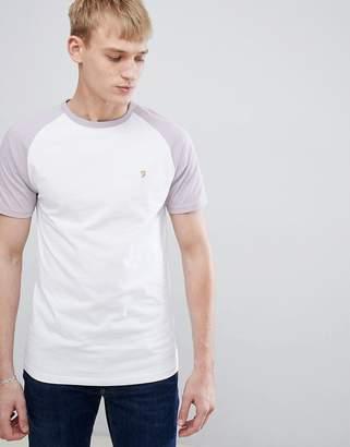 Farah Zemlak slim fit reglan sleeve t-shirt in lilac