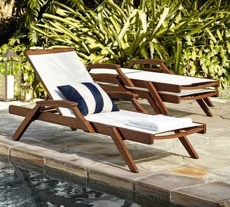 Pottery Barn Chatham Mesh Stacking Chaise, Honey - Set of 2