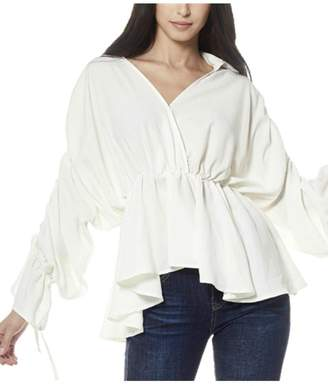 Gracia Gathered Sleeve Top