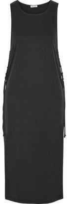 Splendid - Layered Ribbed Stretch Modal-blend Midi Dress - Black $210 thestylecure.com