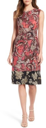 Women's Nic+Zoe Etched Floral Twist Front Dress $168 thestylecure.com