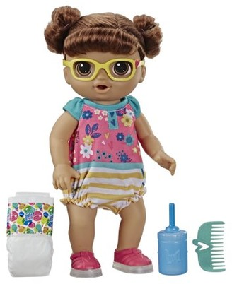 N. Baby Alive Step Giggle Baby (Brown Hair), Ages 3 and Up