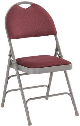 Offex OF-HA-MC705AF-3-BY-GG Hercules Series Extra Large Ultra-Premium Triple Braced Burgundy Fabric Metal Folding Chair with Easy Carry Handle