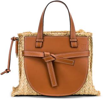 1f039ebc6 Loewe Gate Top Handle Small Bag in Tan & Natural   FWRD