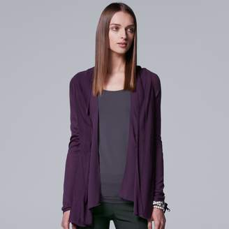 Vera Wang Women's Simply Vera Mixed-Media Flyaway Cardigan