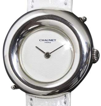 Chaumet 925 Sterling Silver & Leather Belt Quartz 28mm Womens Watch