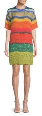 Akris Multi-Color Silk Shift Dress