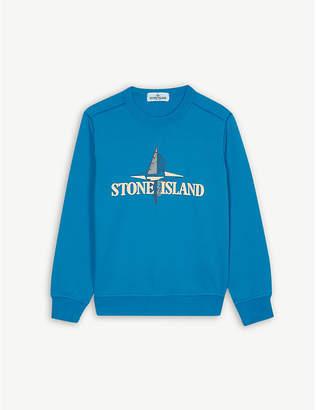Stone Island Compass logo cotton sweatshirt 4-14 years