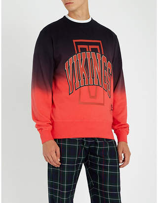 Billionaire Boys Club Vikings logo-print cotton-jersey sweatshirt