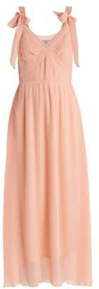Prada V Neck Pleated Dress - Womens - Light Pink